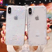 Luxury glitter phone cover for iphone 7 8 6 6s plus  coque case  for iphone X XR Xs max All soft tpu phone back case funda capa цена и фото