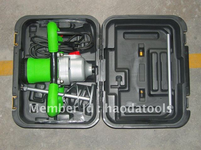 Free shipping of concrete , plaste or paint Electric Hand mixer with plastic box