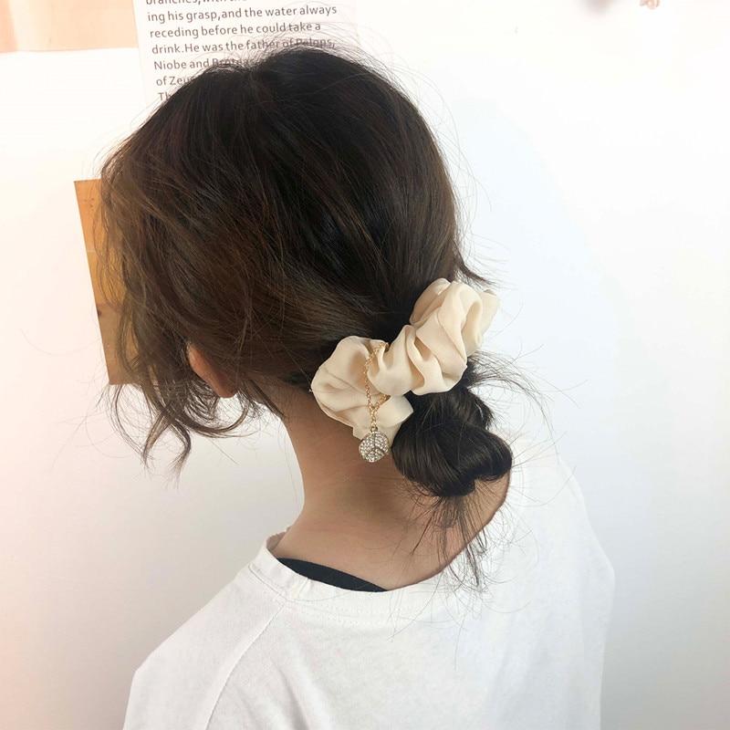 CHIMERA Hair Scrunchies for Women Girls Elastic Hair Rubber Band Elegant Chiffon GumTie Accessory Hair Ring Rope Ponytail Holder in Women 39 s Hair Accessories from Apparel Accessories