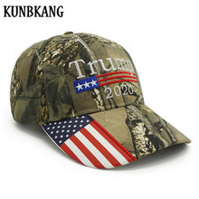 New Donald Trump 2020 Cap Camouflage USA Flag Baseball Caps Keep America Great Snapback Hat Embroidery Star Letter Camo Army Cap(China)