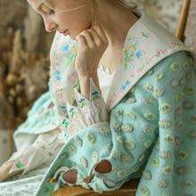 Линетт's chinoisery зима дизайн для женщин милые винтажные вышитые лацканы шерстяное пальто верхняя одежда