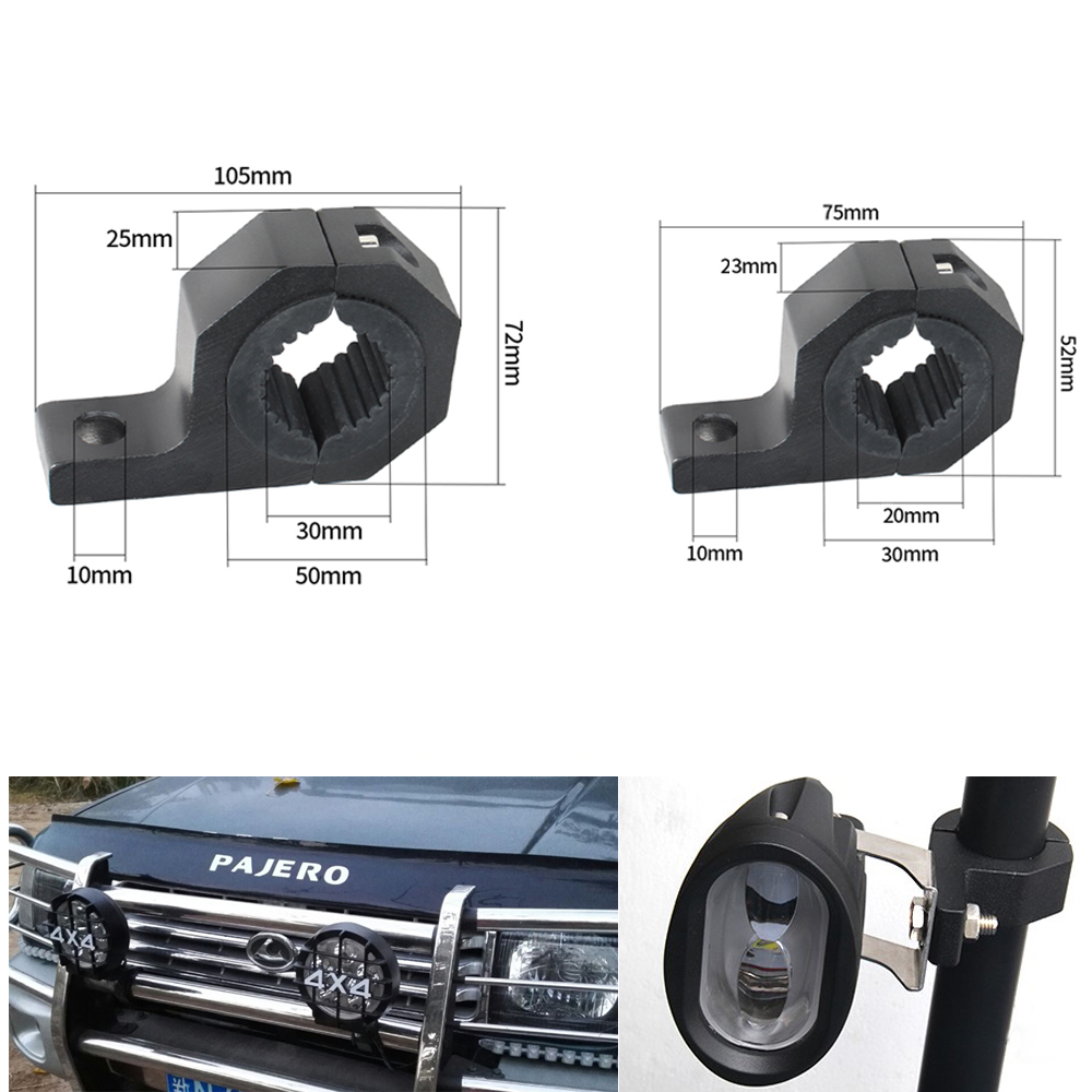 LED Light Bar Offroad Tube Hood Roof License Installation Bracket Remote Control Wire Harness 12V 24W Work Lights in Light Bar Work Light from Automobiles Motorcycles