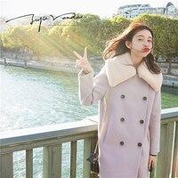 JUPE VENDUE Womens Woolen Coat Lavender 49146