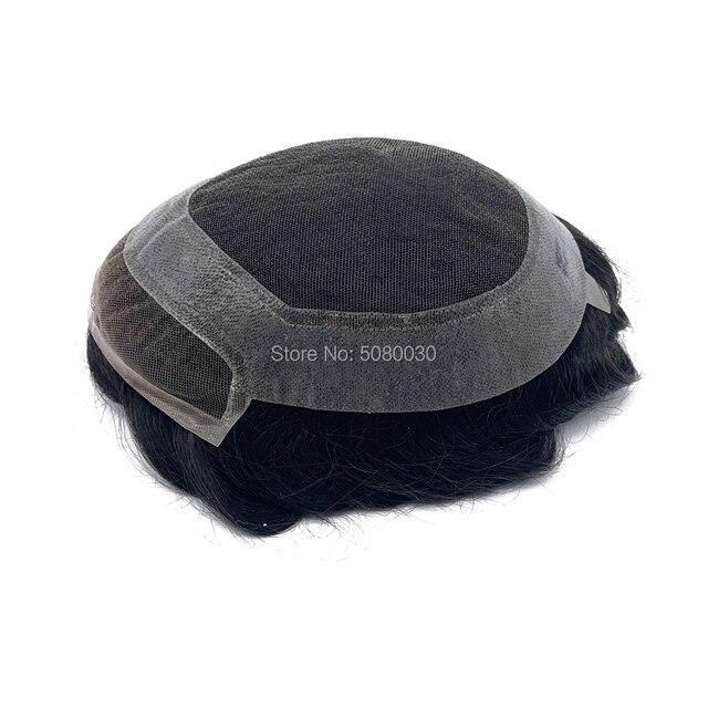 HD base styl górnej i przedniej szwajcarskiej peruka koronkowa włosów ludzkich włosów peruki mężczyzn darmowa wysyłka DHL Fedex