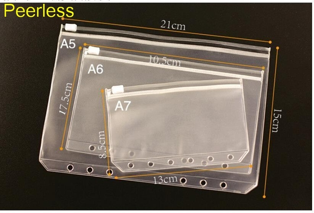 Peerless 3pcs transparent storage bag for travelers notebook diary peerless 3pcs transparent storage bag for travelers notebook diary day planner zipper bag business cards notes reheart Gallery
