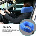 Duable U Shape Soft Memory Foam Neck Rest Cushion Pillow Support Car Home Head Support Office Cushion Comfortable Travel Pillow