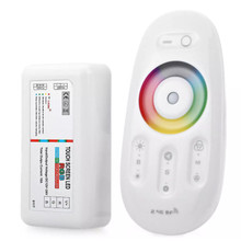 цена на DC12-24V RGB LED Controller 2.4G Touch Screen RF Remote Control for Strip Lighting For 5050 Led Light