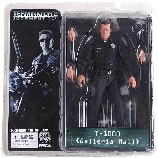 Free Shipping NECA The Terminator 2 Action Figure T-1000 Galleria Mall Figure Toy 718cm Model Toy #ZJZ006 free shipping neca the terminator 2 action figure t 800 cyberdyne showdown pvc figure toy 718cm zjz001