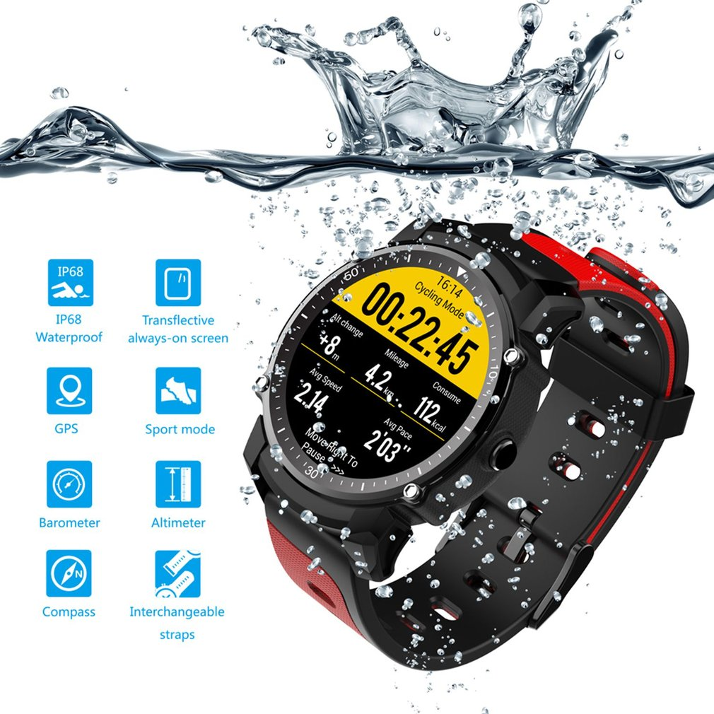 FS08 Étanche GPS Sport Fitnes Tracker Chronomètre Moniteur de Fréquence Cardiaque Montre-Bracelet Élégant Bluetooth Montre Smart Watch hommes relogio
