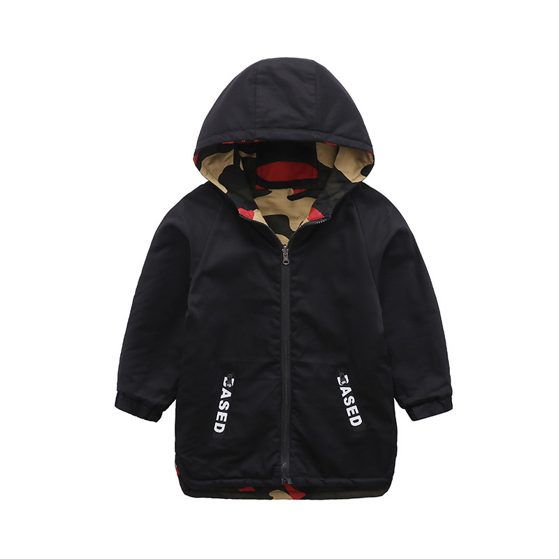 2017 Casual Winter Baby Boys Parka Coat Kids Jacket Children Outwear Double-sided Camouflage Overcoat Cotton-padded Clothes children winter coats jacket baby boys warm outerwear thickening outdoors kids snow proof coat parkas cotton padded clothes