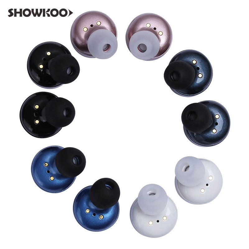 Showkoo X2T Earphone Wireless Bluetooth Earbuds Bass Mini Stereo Headset Noise Canceling Ear Invisible Earpiece Fone De Ouvido showkoo stereo headset bluetooth wireless headphones with microphone fone de ouvido sport earphone for women girls auriculares