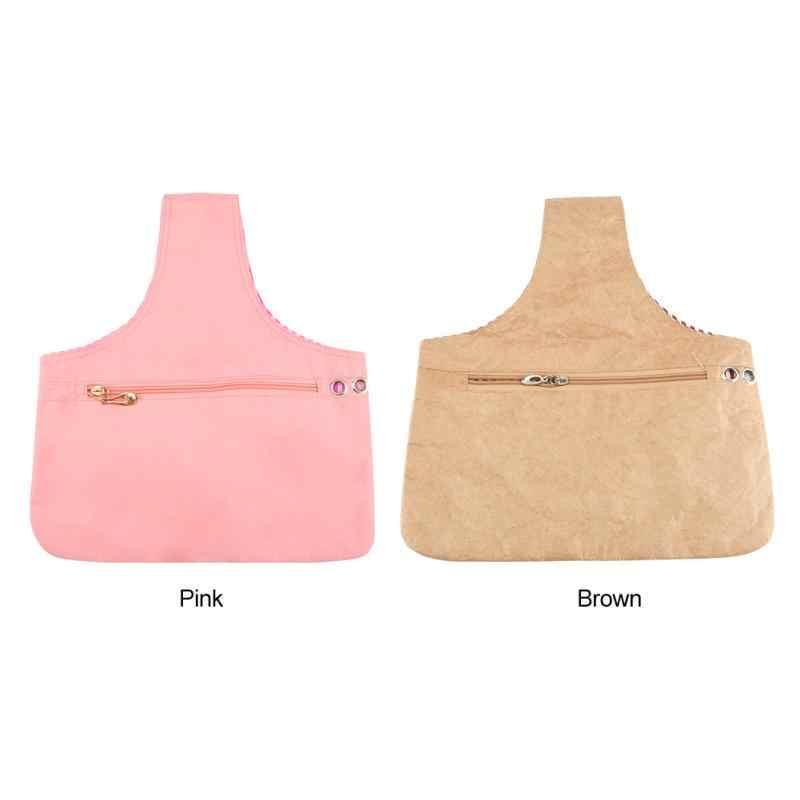 Cotton Cloth Handheld Knitting Bag Yarn Crochet Thread Sewing Storage Organizer Waterproof Paper Storage Bag