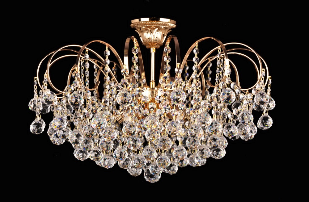 Classic crystal pendant  lamp, french gold clear crystal italy style chandelier, Spot inventory, quick delivery