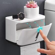 Igienica impermeabile Supporto Di Carta Creativo di Plastica Bagno Rotolo di carta Igienica Holder Montaggio A Parete di Carta Da Cucina Porta Asciugamani di carta 2019 Più Nuovo