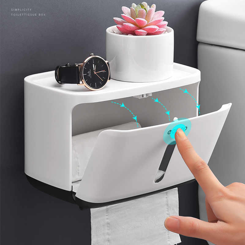 Waterproof Toilet Paper Holder Creative Plastic Bathroom Toilet Roll Holder Wall Mounted Kitchen Paper Towel Holder 2019 Newest