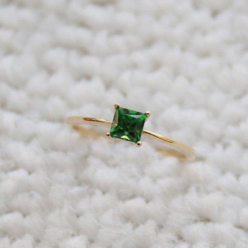 Women/'s anneaux bleu pierre naturelle or Rose Mode Fête de mariage de luxe bijoux