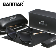 BANMAR BRAND DESIGN Luxury Sunglasses Women Vintage Polarized Square Frame Gradient Lens Shades UV400 A405