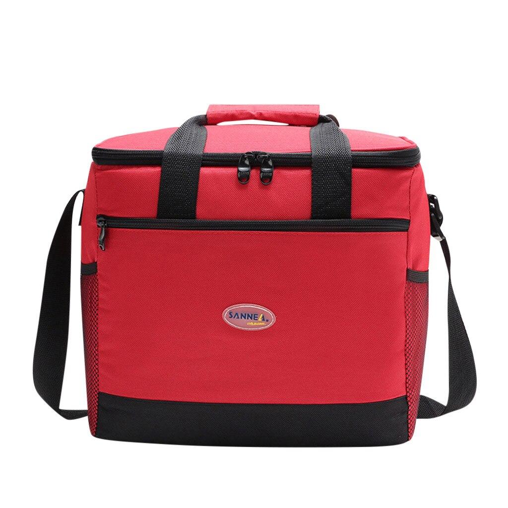 16l Isolierung Paket Picknick Eis Pack Oxford Tuch Kühl Paket Grün Mittagessen Tasche Aluminium Folie Mittagessen Kühltasche