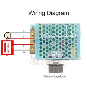 Image 2 - אחת שלב Knob מתאם AC220V 4000 W ברציפות משתנה שנאי עבור מנוע מהירות רגולטור LED בהירות בקרה