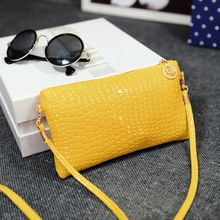 Lady Patent leather Crocodile messenger bags New Arrival fashion small PU Leather shoulder crossbody bag women clutch