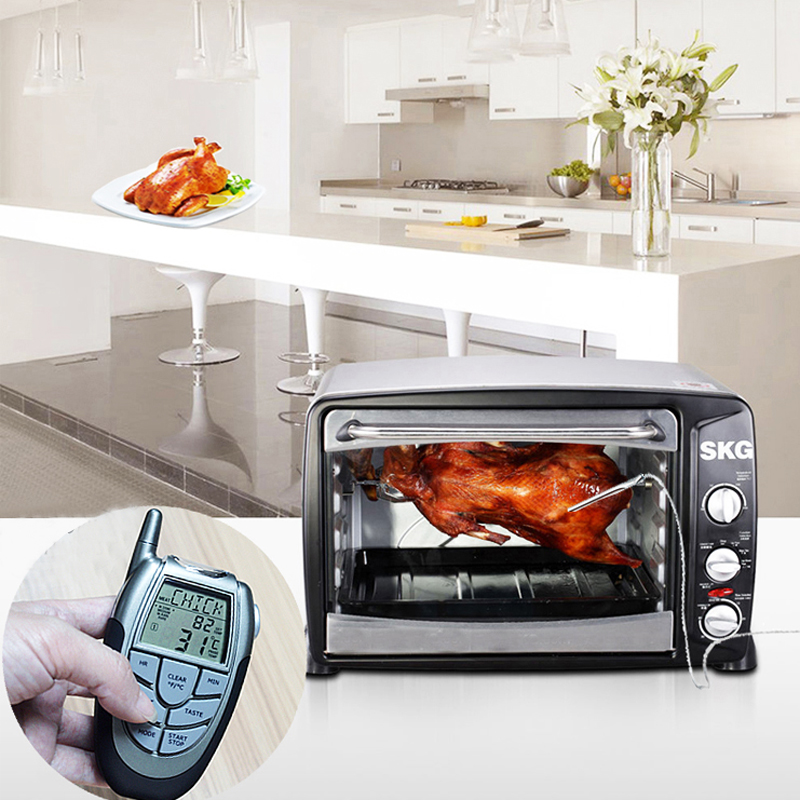 Wireless Remote Digital Food Meat Oven Smoker Microwave Turkey Thermometer With Probe For Bbq Grilling Roasting Kitchen Cooking In Baking Pastry Tools