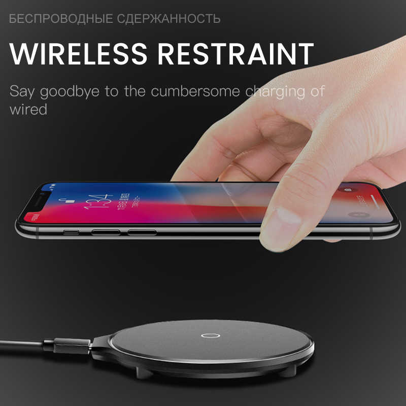 Esvne 5 W 10 W Qi Wireless Charger untuk iPhone X XS 8 PLUS Cepat Charger UNTUK Samsung Xiaomi Huawei USB Ponsel Charger untuk iPhone