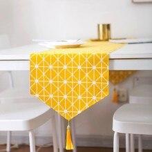 Brand design yellow plaid cotton and linen tablecloth modern restaurant decoration high quality LOVRTRAEL front runner ultimate restaurant design