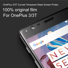 100% original full-screen steel membrane for OnePlus 3/3T Curved Tempered Glass Screen Protector,One Plus 3/3T Glass film