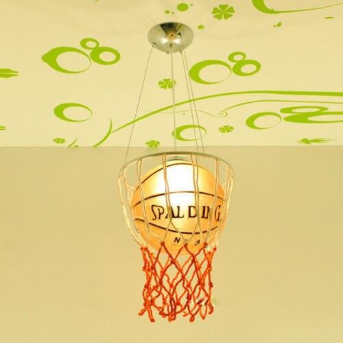 LED de Basket-Ball Pendentif Lumière Chambre À Coucher de L'enfant Éclairage 110-220 v Livraison gratuite pendentif lampe enfants Y Compris ampoule