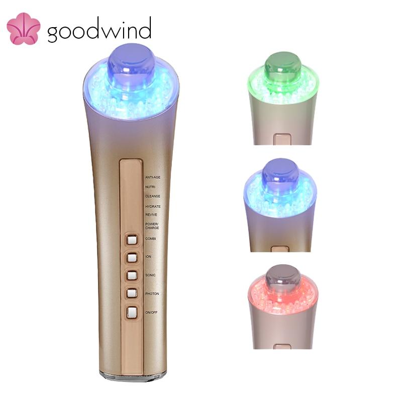 La goodwind cm-5-2 6 en 1 Piel máquina Cuidado máquina facial Photon rejuvenecimiento Cara Cuidado dispositivo anti-envejecimiento vibración spa