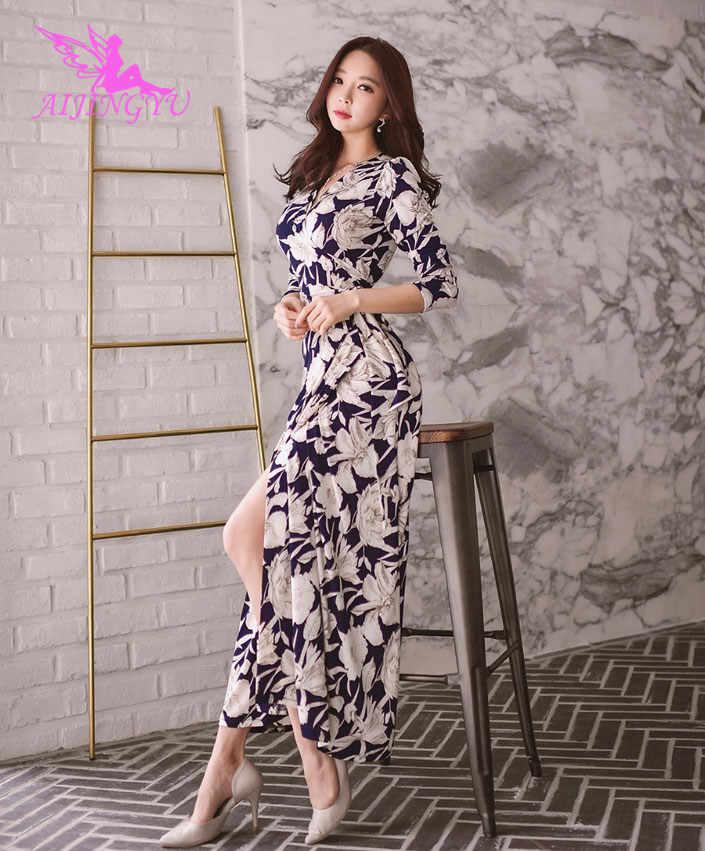 0d1dd89e362 AIJINGYU сексуальное вечернее платье вечерние платье 2018 Для женщин  Формальные этаж Длина модные элегантные платья FK352