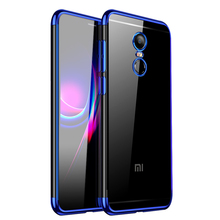 все цены на Xiaomi Redmi Note 4X Case Cover Transparent Soft Silicone Silm Plating TPU Back Cover For Xiaomi Redmi Note4X Note4 Phone Coque