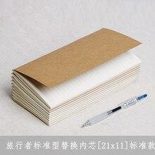 """4,"""" x 8,3"""" блокнот Мидори путешественника запасной блок 110 мм x 210 мм пустая точечная сетка бумага графа-бумага с линейкой 32 листа стандартный стиль"""