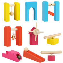 Children Wooden Domino Accessories Building Blocks Toys Board Games Colorful Wood Jigsaw Learning Block Bricks Toy Gifts