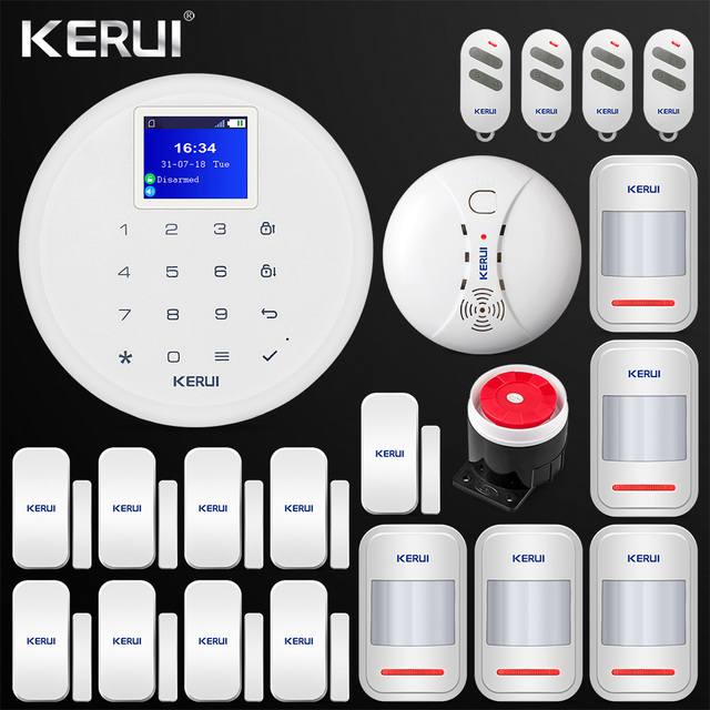 Special Offers GSM Home Alarm Android IOS APP Control GSM  Home Security Alarm System PIR Motion Door Smoke Sensor Siren Remote Control