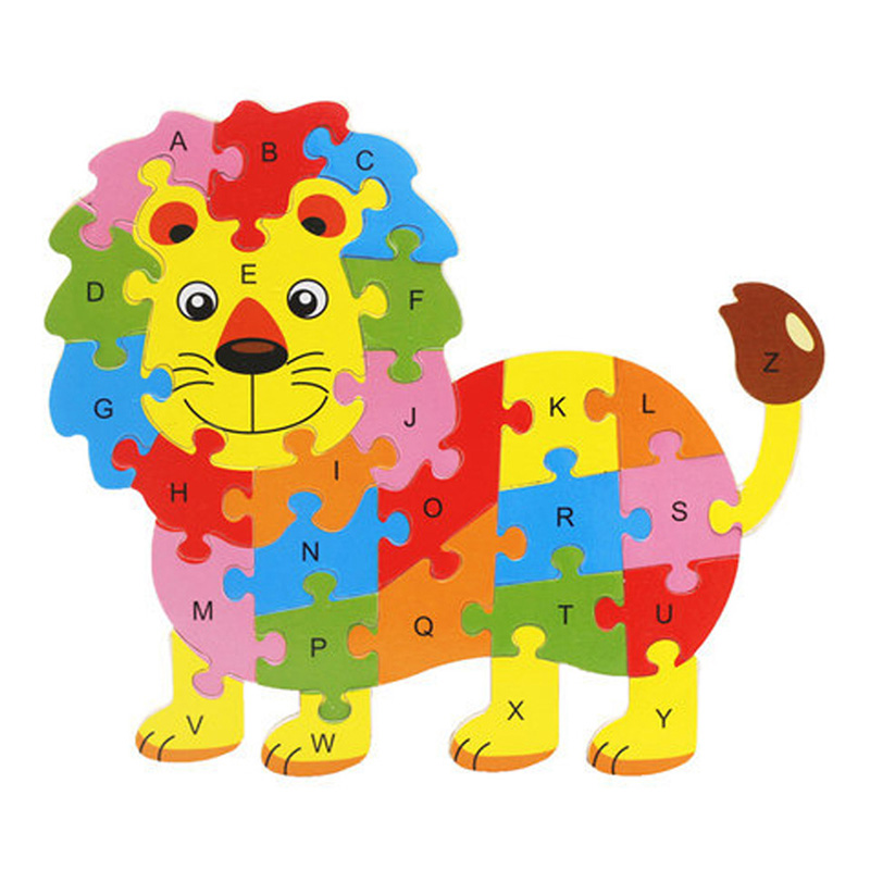 Aliexpress.com : Buy 26 Letters Puzzles Asselbme Animals ...