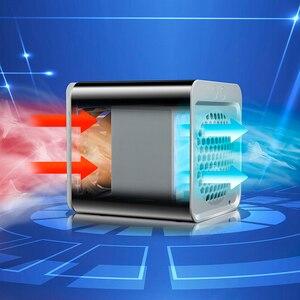 Image 4 - 편리한 새로운 소형 휴대용 에어 컨디셔너 가습기 공기 냉각기 공간 쉬운 차가운 Purifies 가정 사무실 책상을위한 큰 바람 팬