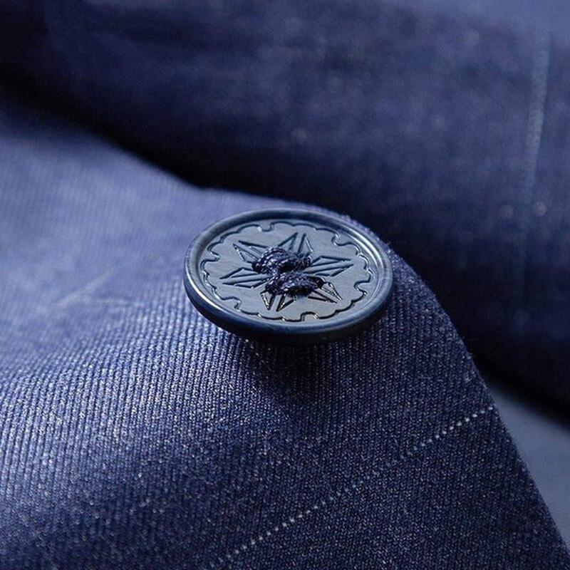 Повседневный костюм пиджак для мужчин Новое поступление модный приталенный пиджак мужские костюмы хлопок сплошной цвет мужской блейзер дл... - 5