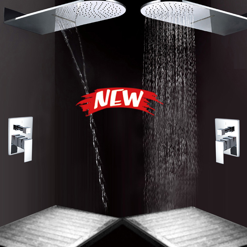 product waterfall shower mixer shower set concealed shower set wall type pressurized shower faucet tap www sanitary