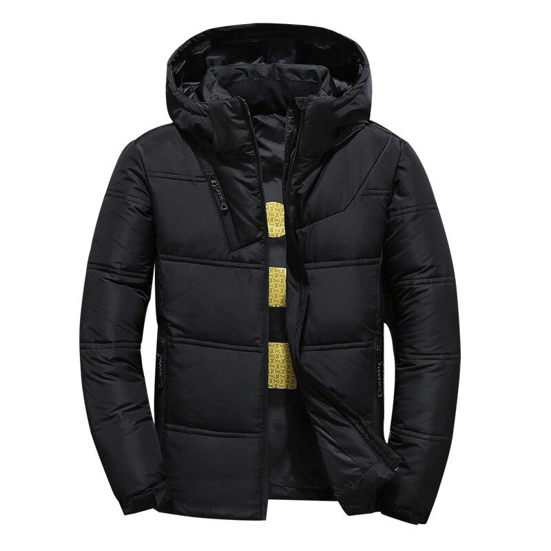 Haute qualité blanc canard doudoune hommes manteau hiver neige Parkas mâle chaud marque hommes vêtements hiver vers le bas veste d'extérieur à capuche