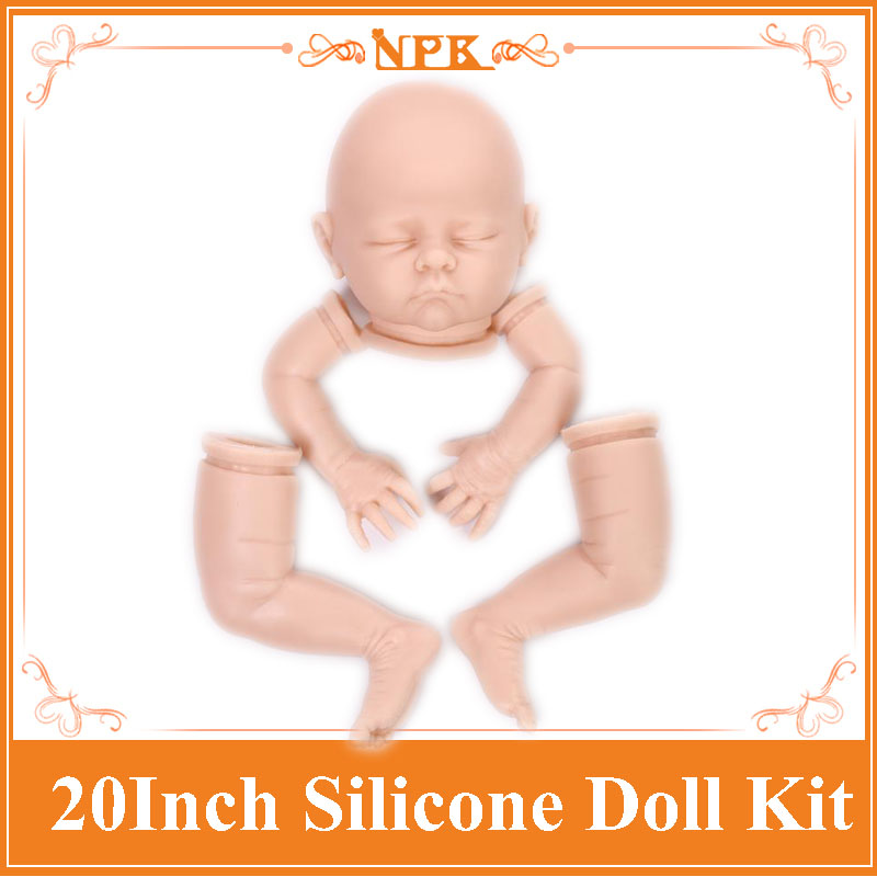 2017 New Reborn Baby Doll Kits Made By Soft Silicone Vinyl Fit For 20inch Reborn Doll , FIt For 20mm Eyes Hot Doll Accessories good price reborn baby doll kits for 17 baby doll made by soft vinyl real touch 3 4 limbs unpainted blank doll diy reborn doll