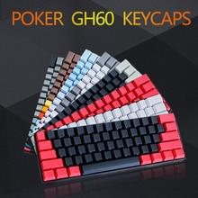 Бесплатная доставка сбоку с 60 OEM профиль толщиной pbt колпачки смешанный цвет для MX механический переключатель клавиатуры GH60 покер 61