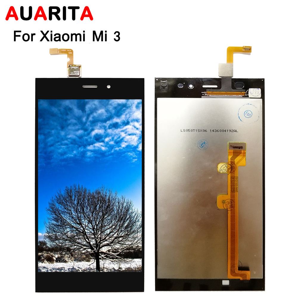 lcd For <font><b>XiaoMi</b></font> 3 for <font><b>xiaomi</b></font> mi 3 <font><b>mi3</b></font> xiaomi3 LCD <font><b>Display</b></font> screen Touch panel Screen Digitizer with frame Assembly replacement image
