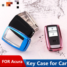 Key bag TPU soft key case ring buckle for Acura 19 RDX/CDX/MDX/TLX-L