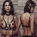 Arnês De Couro HARAJUKU Sexy Peito Esculpir O Corpo Da Cintura Cinto SUTIÃ DO PUNK GÓTICO sexy bondage CORPO bigs vendas