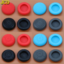 JCD 2pcs Silicone Analog Joystick Grips Caps Joypad Joystick Cover Case for Nintend Switch NS Joy-Con Controller(China)