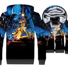 Movie 3D Hoodies Star Wars Darth Vader Printed 3D Jackets Men 2019 Autumn Winter Warm Fleece Sweatshirts Plus Size Men's Coat набор кухонных принадлежностей 7 предметов taller ридли tr 1409