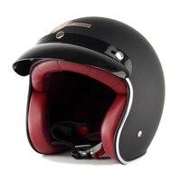 Vintager Motorcycle Open Face Helmet Motor Bike Street Racing Helmets Motociclismo Capacetes Cascos