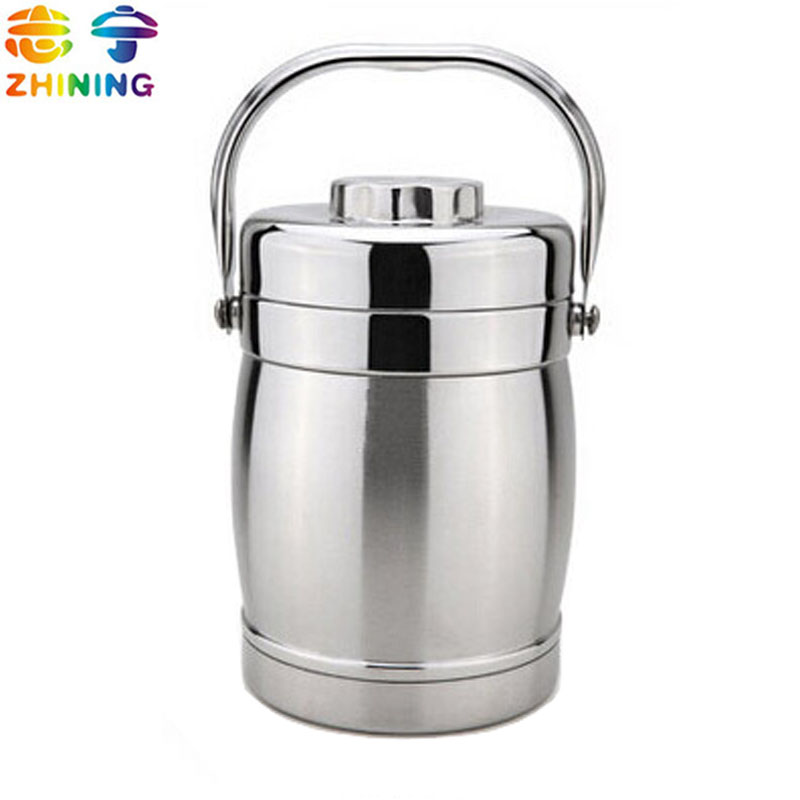 buy bento lunch box bucket stainless steel thermos food container meal box. Black Bedroom Furniture Sets. Home Design Ideas