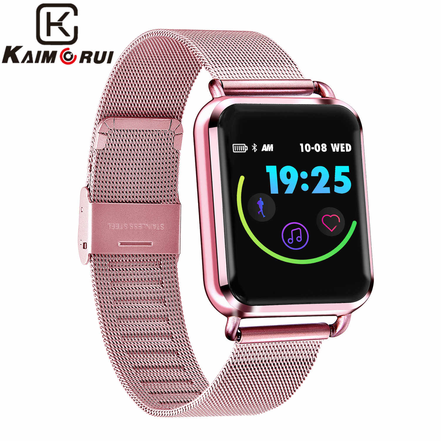 Smart Watch Womens Heart Rate Pedometer Call Reminder Bluetooth Smartwatch Sleep Monitor Female Watch Birthday Gift Women Watch